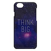 Tortoise™ Hard Protective Case, iPhone 6, Think Big motto on Space design, Multi.