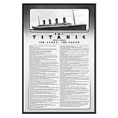Titanic Gloss Black Framed 100 Years, 100 Facts Poster