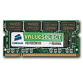 Corsair Microsystems Value Select SODIMM 512MB PC3200 400MHz DDR SDRAM Notebook Memory Module