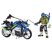 Teenage Mutant Ninja Turtles Movie 2 Leo With 3 Wheeler Action Figure