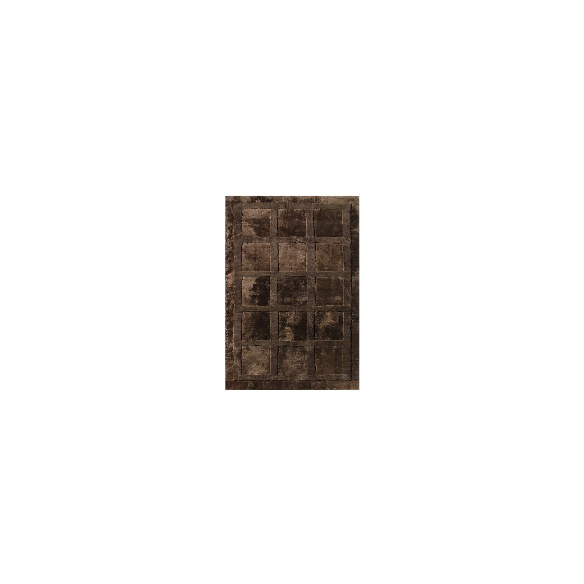 Bowron Sheepskin Shortwool Design Squares Rug - 300cm H x 200cm W x 1cm D at Tesco Direct