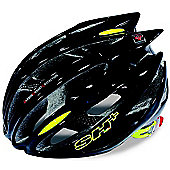 SH+ Zeuss Pro Helmet: Black/Yellow S/M.