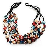 3 Strand Multicoloured - Composite Bead Necklace