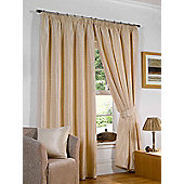 Sicily Ready Made Lined Curtains - Beige
