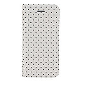 "Tortoiseâ""¢ Look Notebook Case, iPhone 5/5S, Mini polka dot design cream with Black spots."