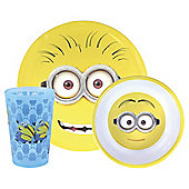 Despicable Me Minions Melamine Dinner Set, 3-Piece
