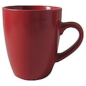 Tesco Mono Matt Stoneware Mug Red