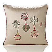 Christmas Decorations Embroidered Cushion - 46x46cm