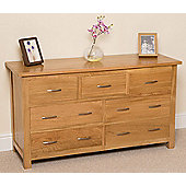 Boston Solid Oak 3 + 4 Chest Of Drawers