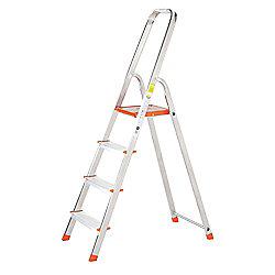 TB Davies Light Duty Aluminium 4 Tread Platform Step Ladder