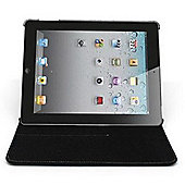 IGO 360 Swivel Folio Case Cover Stand For iPad 2 3 4 Black - With Added Protection - 11687