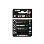 Panasonic Eneloop Pro Rechargeable 2450mAh Batteries AA 4 Pack