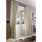 Midtown Eyelet Lined Curtain - Cream