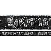 Dazzling Effects 16th Prismatic Birthday Banner (each)