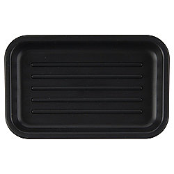 Tesco Basic Plastic Soap Dish Black