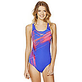 Speedo Endurance®+ Graphic Sketch Print Muscle Back Swimsuit - Blue