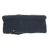 Cable Knit Audio Headband Ink with In Line Mic