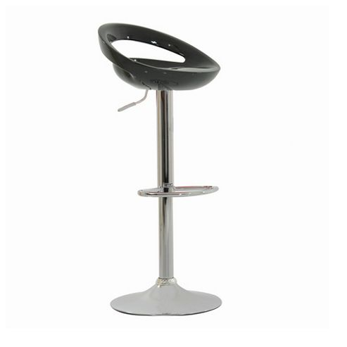 Crescent Black Breakfast Bar Stool
