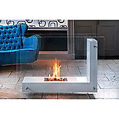 Alma XL Bio-ethanol Fireplace White