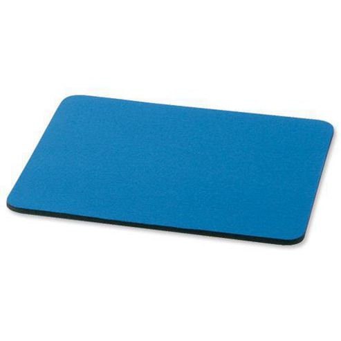 Office Mouse Mat with 6mm Rubber Sponge Backing (Blue)