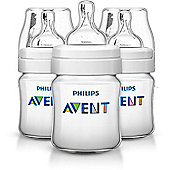 Philips Avent Classic+ Feeding Anti-Colic Bottle 125ml/4oz (3 Pack) SCF560/37