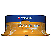 Verbatim 4.7 GB 16x DVD-R Spindle 25 Pack - Matt Silver