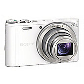 Sony DSC-WX300 Camera White 18.2MP 20xZoom 3.0LCD FHD 25mm Sony G Wide WiFi