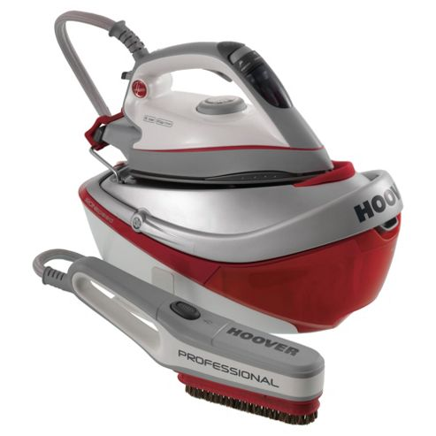 Hoover SRD4110/2 Auto Shut Off Ceramic Plate Steam Generator Iron - Red & Grey