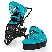 ABC Design Cobra 3 in 1 Pushchair & Carrycot (Black/Coral)
