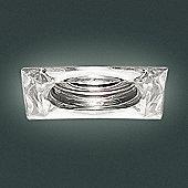 Leucos Mira Recessed Spot - Crystal - 50W GU 10 halogen