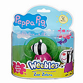 Peppa Pig Weebles Wobbily Figure and Base - Zoe Zebra