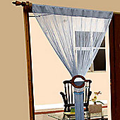 Homescapes Polyester String Curtain Blue