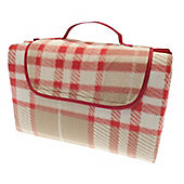 Country Club Family Size Beach & Picnic Blanket 150 x 200cm, Red Tartan