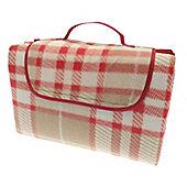 Country Club Family Size Beach & Picnic Blanket 150 x 200cm, Red Tartan