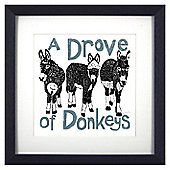 Animal Friends Framed Print - Donkeys