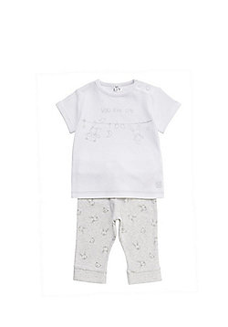 F&F Bunny and Bear Pyjamas - White & Grey