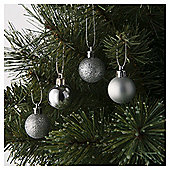 Tesco Mini Christmas Baubles Silver, 25 Pack