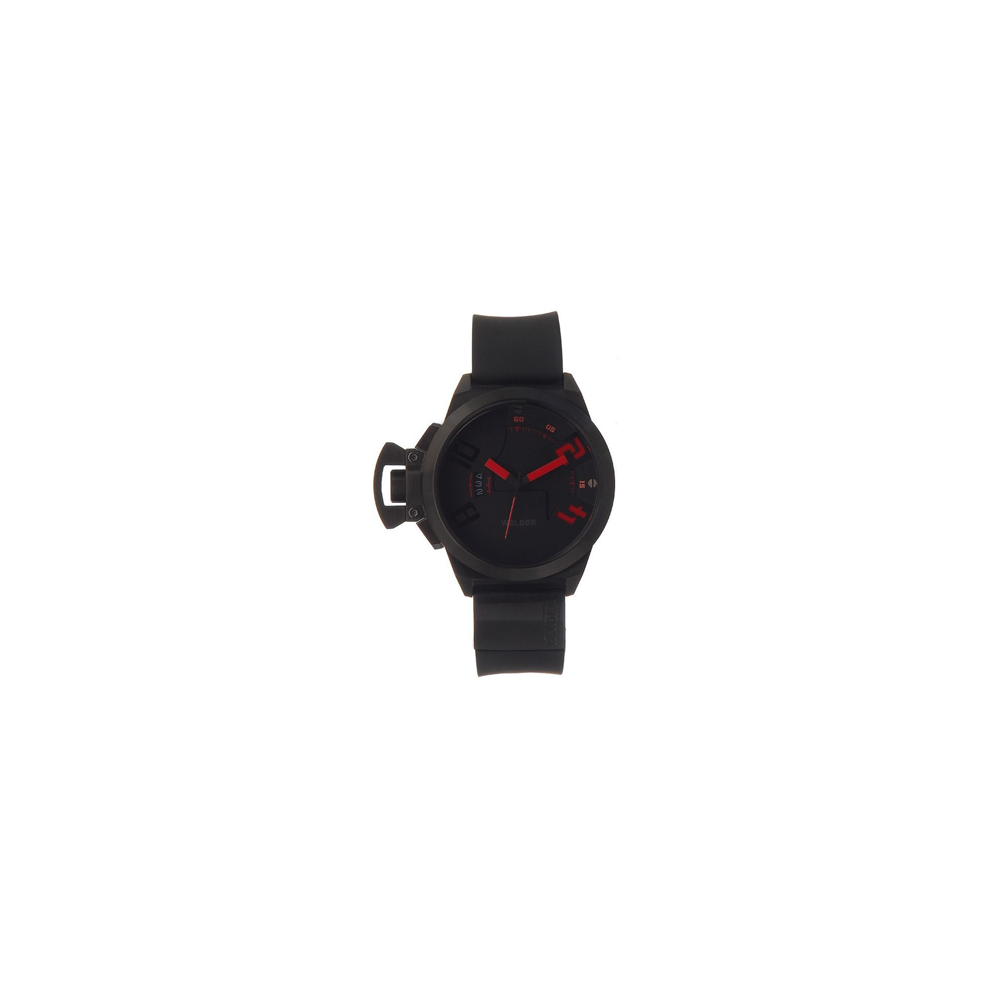 Welder Gents Black Dial Black Rubber Strap Watch K24-3103 at Tesco Direct