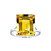 QP Jewellers 6.50ct Citrine Auroral Ring in 14K White Gold