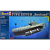 "Revell U-Boot Type Xxvii B ""Seehund"" Submarine 1:72 Model Kit - 05125"