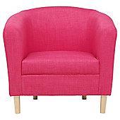 Tub Chair Fabric Plain   Pink
