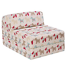 Children's Z Bed - Scottie Dogs