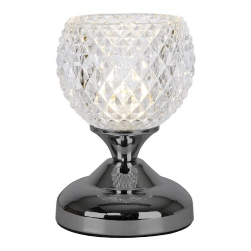 Buy Round Mini Touch Table Lamp Black Chrome From Our