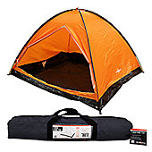 Milestone 4 Man Camping Dome Tent Orange