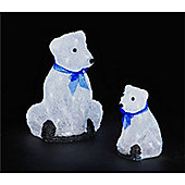 Set of 2 of Bears with Cool White LEDs