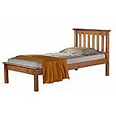 Denver shaker style 90cm 3' single antique pine wooden bed frame low end