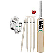 Gunn & Moore Maxi Cricket Bat Ball Wicket Set - White