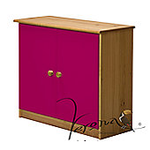 Verona Ribera Cupboard - Antique / Fuschia