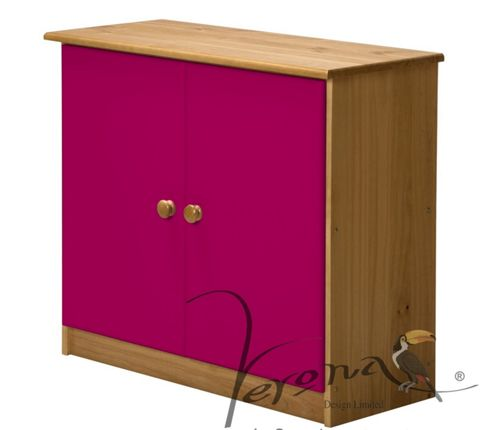 Rustic Retreat Ribera Sideboard - Antique / Fuschia