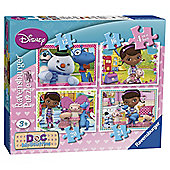 Doc McStuffin 4 Pack Puzzle